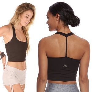 Mika Yoga Wear • Black Serene Braided Crop Top